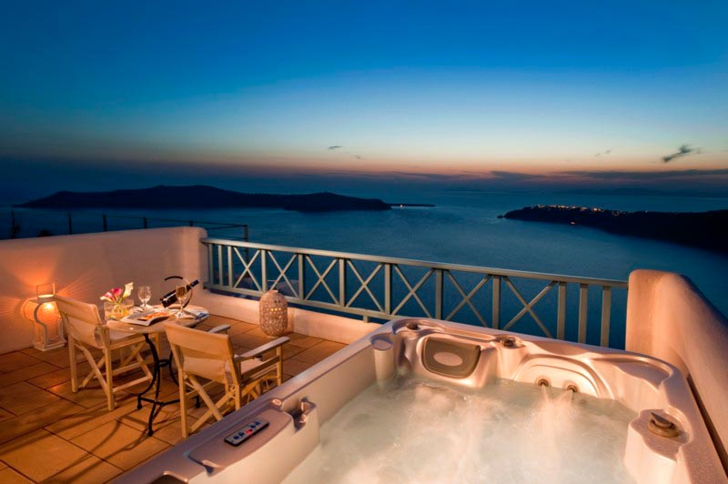 King Size Bed Santorini Suites Honeymoon Suite Caldera View