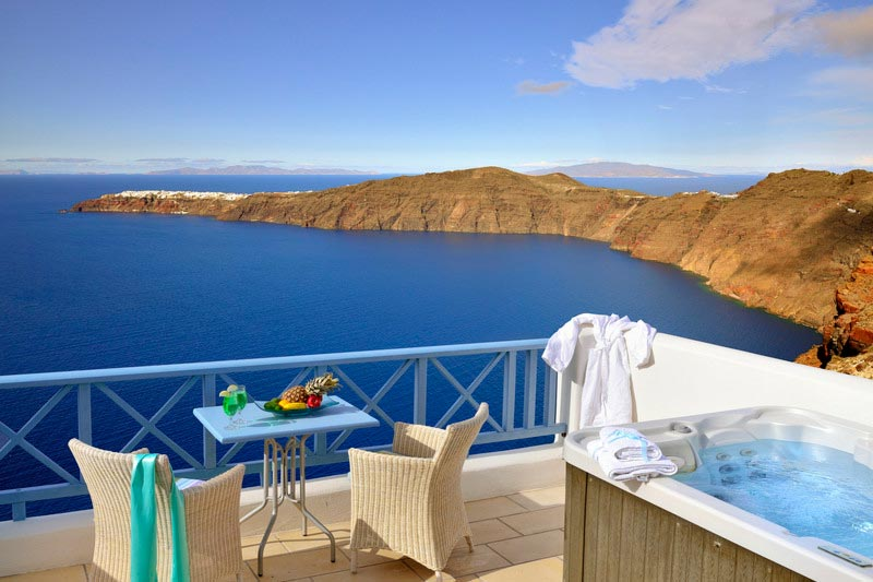 Elegant suite santorini imerovigli hotels absolute for Absolute bliss salon
