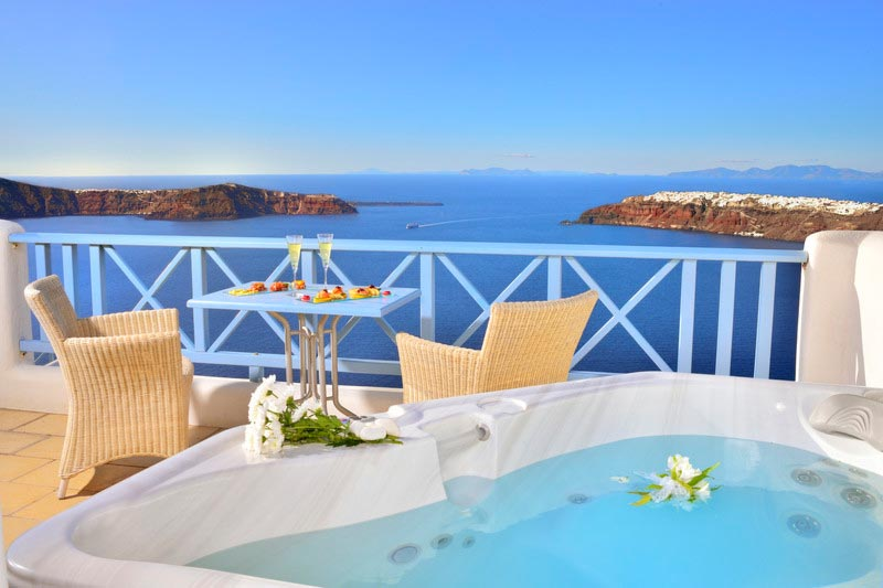 Absolute Bliss Santorini Double Room With Hot Tub Private Balcony Hot Tub  Caldera View ...